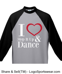Youth I love Step It Up and Dance (Black) Design Zoom