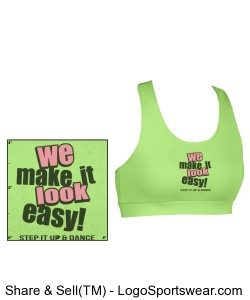 We Make It Look Easy Sports Bra (Youth Lime Green) Design Zoom