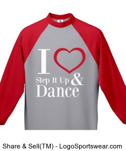 Youth I love Step It Up and Dance (Red) Design Zoom
