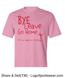 Bye Leave Go Home (Pink) T-Shirt Design Zoom